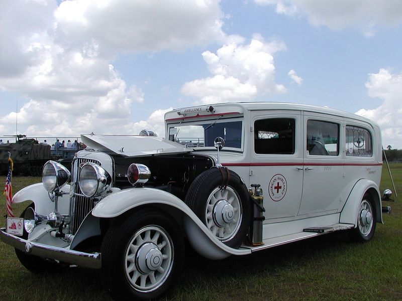 Vintage ambulance at the Ft. Pierce Airshow (FL)