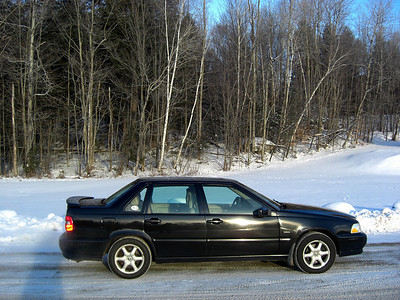 The Volvo in it's natural element....snow!