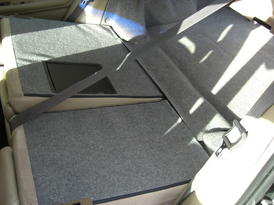 Rear seats fold flat and thru to trunk