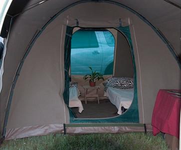 A serene tent setting.