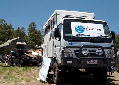 The Earth Cruiser appears large, but it can be parked in a regular size parking spot.