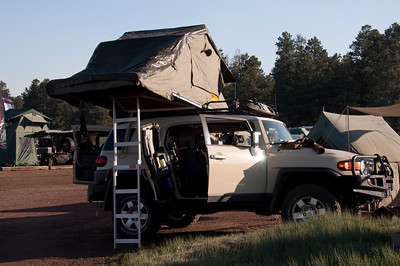 If it has a roof, there was a tent on it. Proof you CAN take it with you.