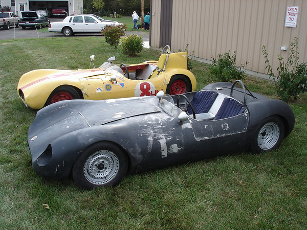 """""""In 2008, the PMY-1 and PMY-2 were together at the Northern Buckeye Crosley Regional Meet at Dr. Ed Buck's place.  This was probably the first time both cars were together since the early '70's when Walter Martin and Tom Puckey raced them at the same time."""" <br /> Tim Freshley<br /> <br /> Photo provided by Tim Freshley"""