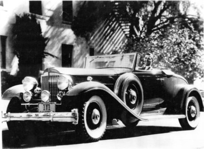 Clark Gable in his 1932 Packard 905 Twin Six Coupe Roadster