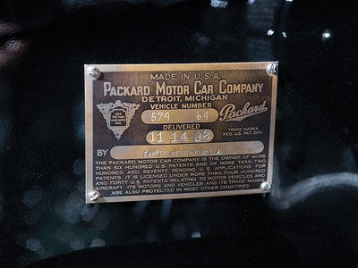 1932 Packard Vehicle Number  579-64