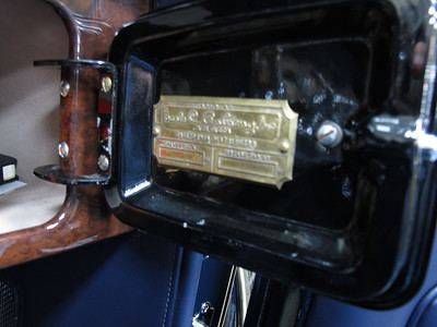 1932 Packard Twin Six Earl C. Anthony data plate