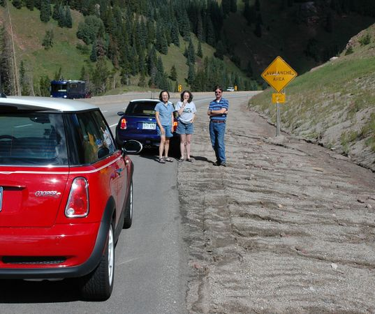 I-70 west, into the mountains was uneventful (no rock slides today) until two miles west of the summit at Vail Pass.