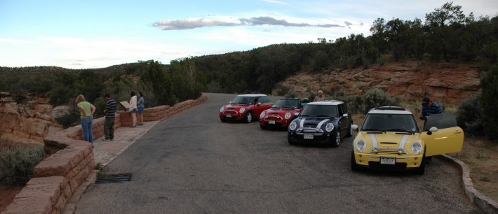 One of many scenic stops along Colorado National Monument's Rim Rock Drive.
