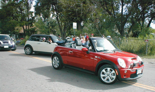 The MINIs were a real hit, according to several locals. (Photo by Nancy Bierbaumer's daughter)