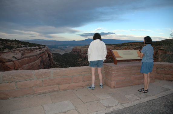 Wendy and Eleanor looking toward Palisade and Grand Junction.