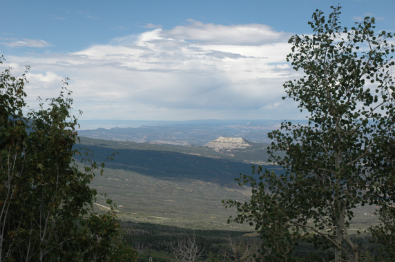Looking toward the northwest from the Grand Mesa.