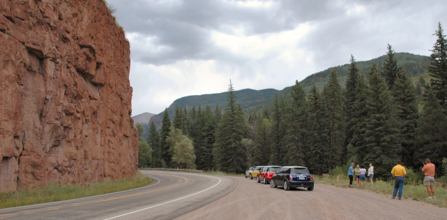 Near Redstone, heading toward Carbondale from 8755 ft McClure Pass.