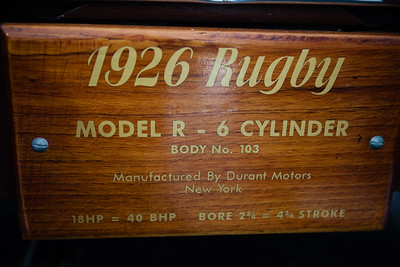 1926 Durant Rugby Model R - Palmer Motorama - Vintage Cars, Rare Cars, Sports Cars and Luxury Cars. Palmer Coolum Resort, Sunshine Coast, Qld, AUS; Saturday 14 June 2014. Photos by Des Thureson - http://disci.smugmug.com.