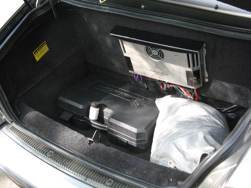 Trunk with Michelin toolkit, custom WeatherTech cover