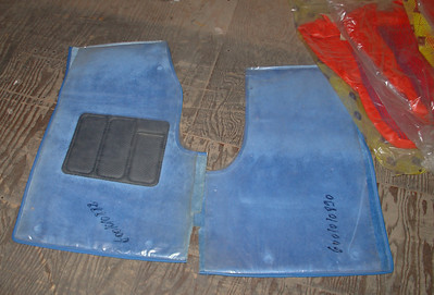 Renault R5 Turbo 1 floor carpets. Complete set. New (new old stock) still in plastic covers. Renault part numbers 600 1010 892 & 600 1010 890.