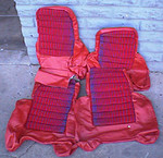 Renault R5 Turbo 1 seat covers. Complete set, red leather. New (new old stock).