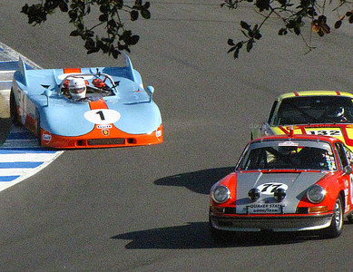 Porsche 908/3 and 911s. Is the racing close? Yup.