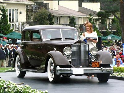 Class C-5: Packard Vee-Windshield Dietrich 1st - 1934 Packard Twelve 1108 Dietrich Sport Sedan
