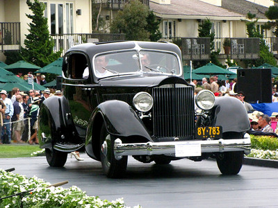 Class C-4: American Classic Closed 1st - 1934 Packard V-12 1106 LeBaron Sport Coupe