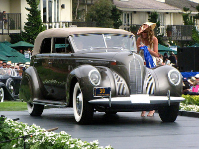 Class C-2: American Classic Open 1933-1941 1st - 1938 Lincoln K V-12 LeBaron Convertible Sedan