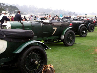 Bentley 4 1/2 Liter Vanden Plas Le Mans Sports. This was one of three Works team cars created for Le Mans prior to the development of the Blower 4 1/2 liters. This car wears registration YV 7263 and ran several grand prix, Brooklands, and the 1929 Le Mans (DNF).