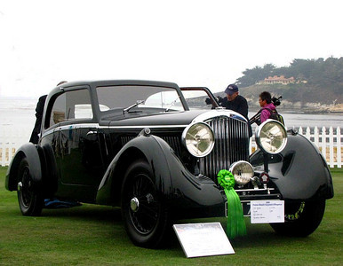 Bentley 3 1/2 Litre Bertelli Coupe. A unique design and the only Derby Bentley body built by Bertelli.