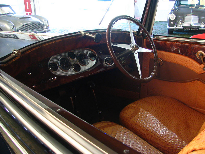 Bugatti Type 49 Pritchard & Demollin Cabriolet with the ostrich interior.