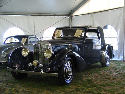 Bentley 4 1/4 Litre Van Vooren. The history of this car includes two owners in Massachusetts.