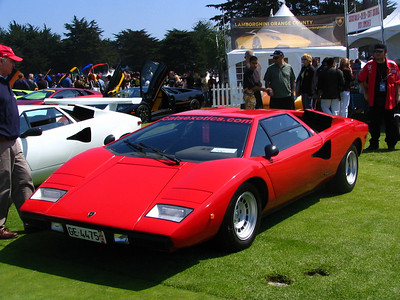 Lamborghini LP400. A beautiful, low mileage, original example of the car that became the Countach. I have seen the LP400 in magazines before but this was the first time seeing one in person. It's much better looking in person.