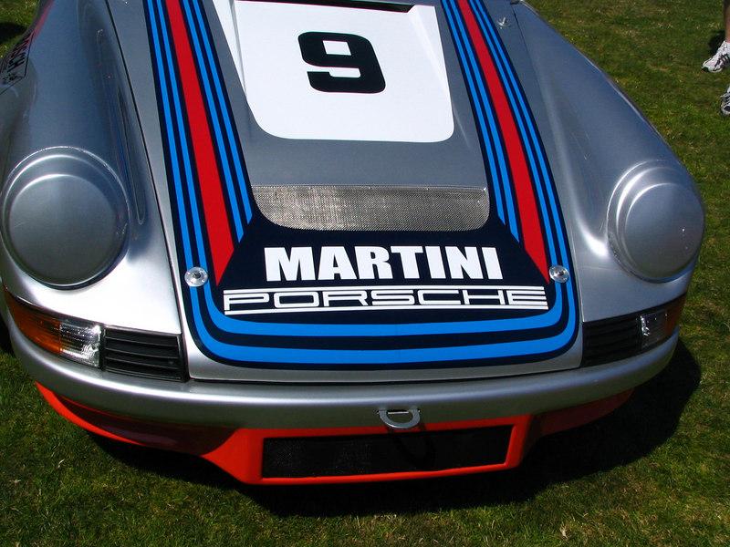Porsche 911 with Martini colors