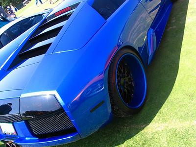 Lamborghini Murcielago with some serious lip on the wheel.