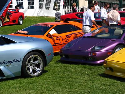 Lamborghinis come in many bright colors