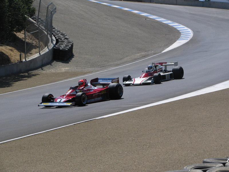 Ferrari 312 and McLaren M-23