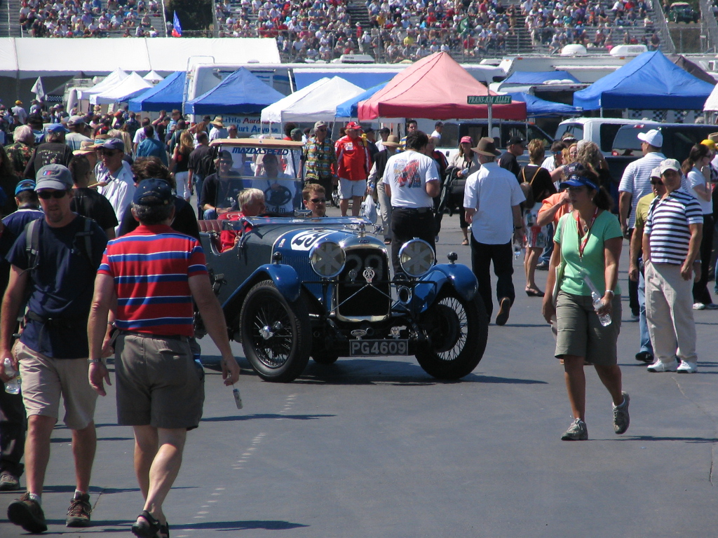 Monterey Historic Races. Crowds? Maybe a little.