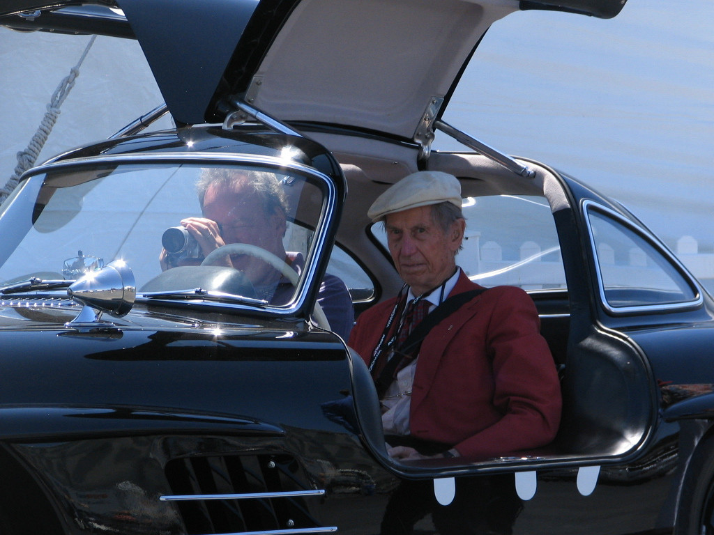 Mercedes-Benz 300SL Gullwing with John Fitch.
