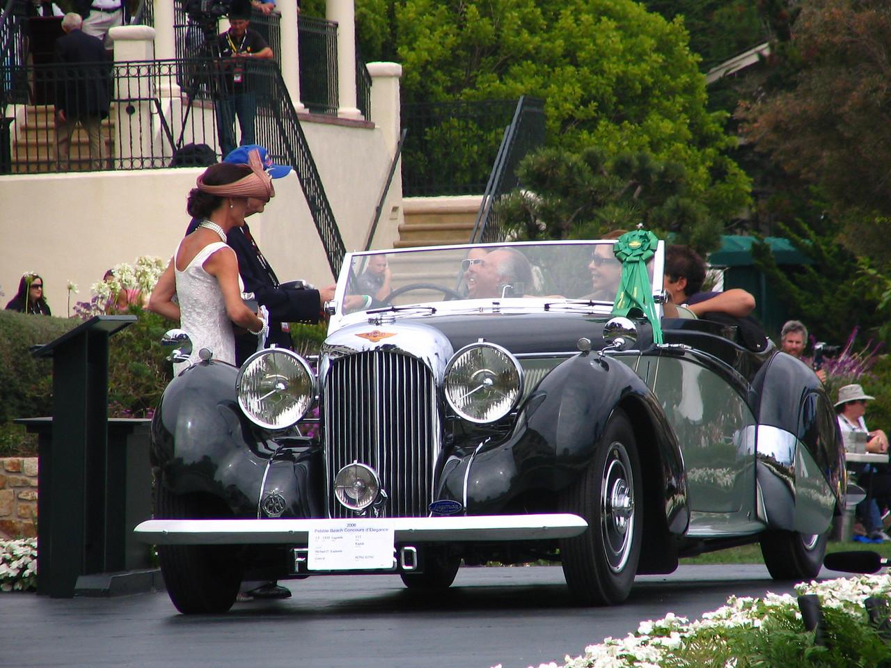 Class J-3, European Classic 1936-1939 Open Late, 3rd Place and Montagu of Beaulieu Trophy Winner  -- 1939 Lagonda V12 Rapide