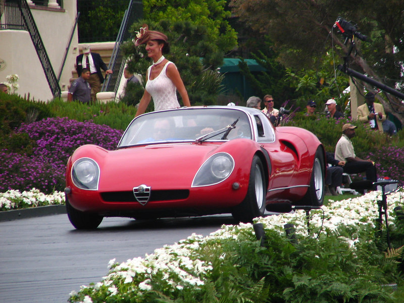 Class P, Mid-Engined Show Cars, Prototypes, and Concept Cars, Winner -- 1968 Alfa Romeo Tipo 33 Stradale Scaglione/Marazzi Coupe