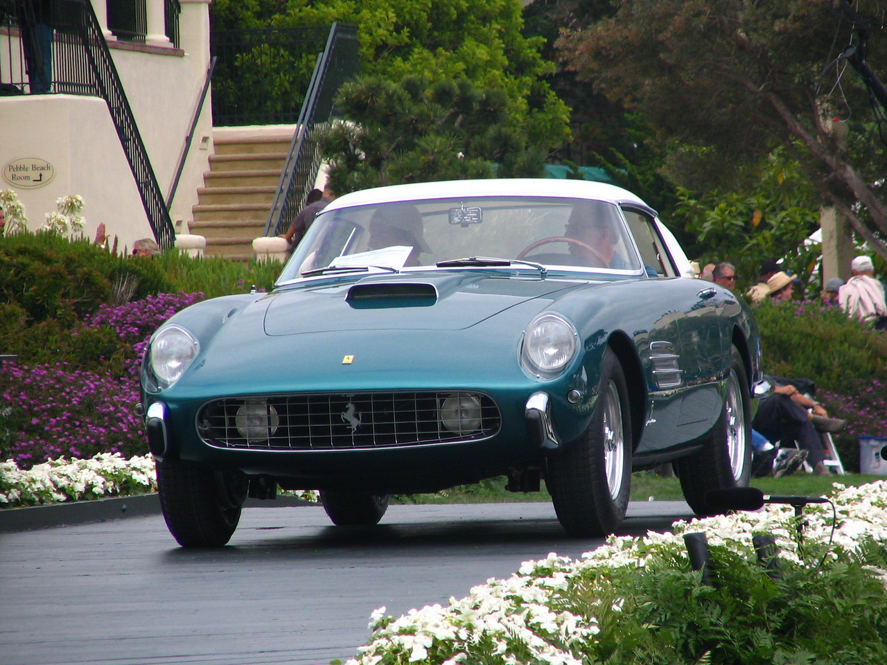 """Class M-1, Ferrari Grand Touring, Winner and Enzo Ferrari Trophy for the most outstanding Ferrari -- 1957 Ferrari 410 SA """"4.9 Superfast"""" Pinin Farina Coupe owned by Lee Herrington from Bow, New Hampshire"""