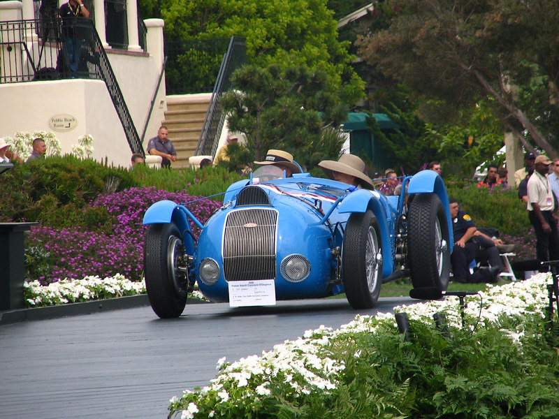Class K, Prewar Sports and Racing, Winner -- 1937 Delahaye 145 Grand Prix Car. Winner of several Grand Prix and the famous Millian Franc Trophy in which French cars were encouraged to break the 200km speed record.