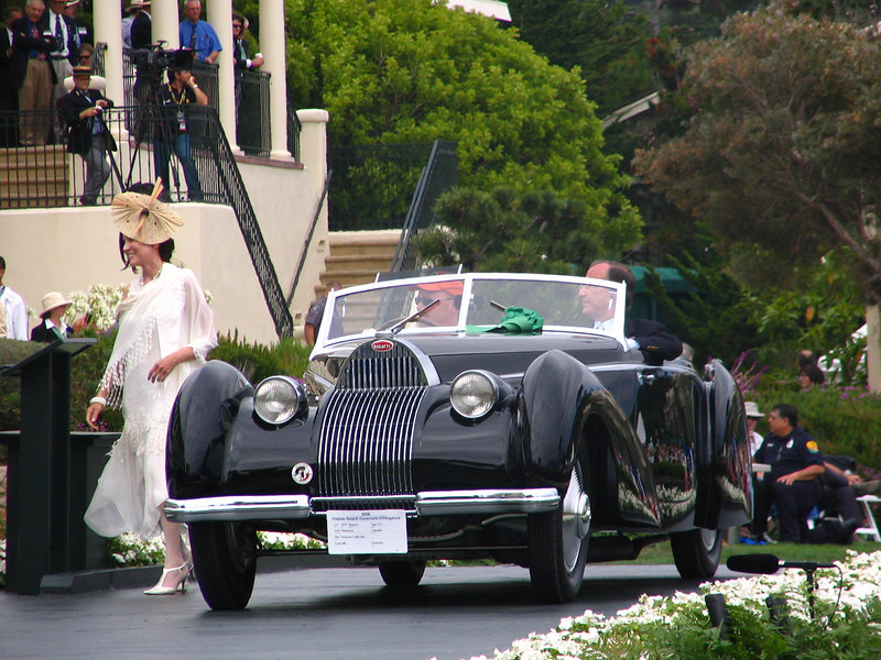 Gwenn Graham Most Elegant Convertible Car Trophy Winner -- 1939 Bugatti Type 57C Voll & Ruhrbeck Cabriolet