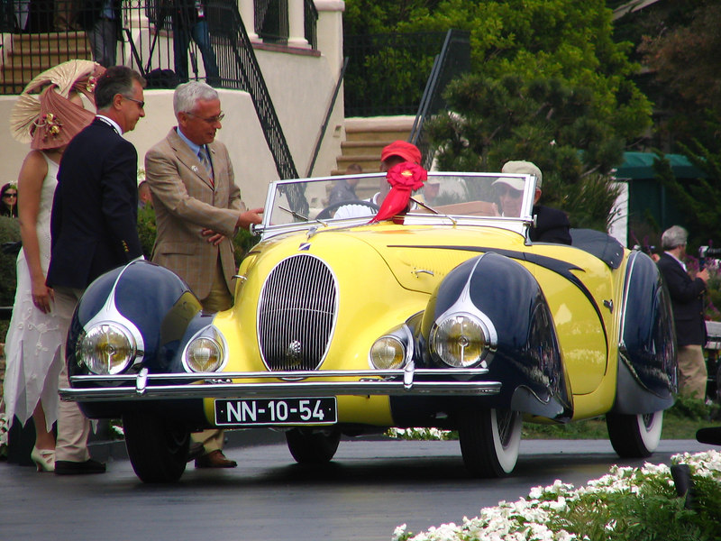 Class J-3, European Classic 1925-1935 Open Early, Runner-up and The French Cup Winner -- 1938 Darracq/Talbot-Lago T150C Figoni & Falaschi Cabriolet