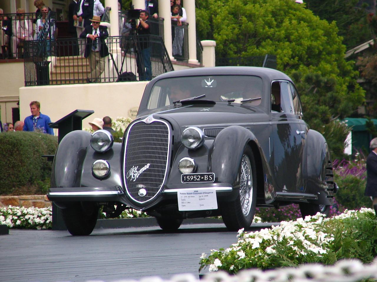 Class J-1, European Classic 1925-1939 Closed, Winner and Elegance in Motion Trophy Winner -- 1938 Alfa Romeo Tipo 8C 2900B Touring Berlinetta