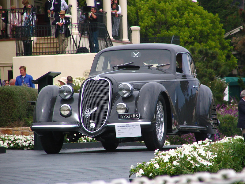 Class J-1, European Classic 1925-1939 Closed, Winner and Elegance in Motion Trophy Winner -- 1938 Alfa Romeo Tipo 8C 2900B Touring Berlinetta