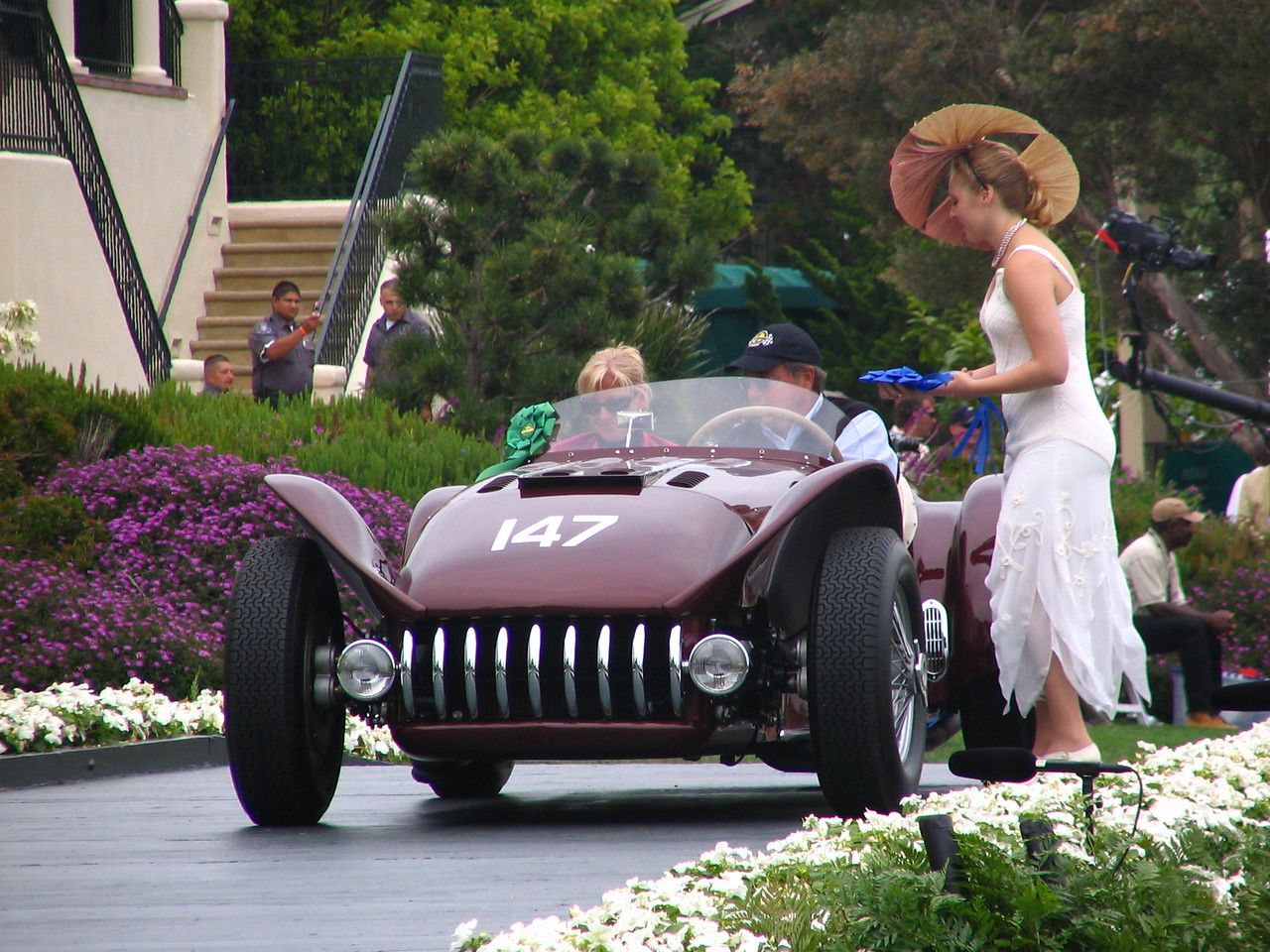 Class R, Cars that Raced in the Forest during the Pebble Beach Road Races, Winner -- 1955 Kurtis 500S Roadster