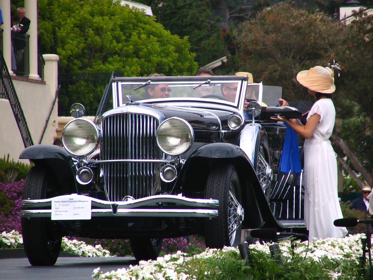 Class G, Duesenberg, Winner -- 1929 Duesenberg J Murphy Convertible Sedan