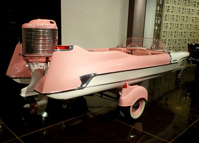 If Barbie (or Angelyne) had a boat.