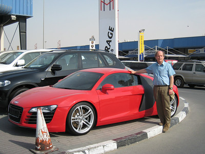 Chris, a visitor from Sydney, and his (he wishes)Audi R8.