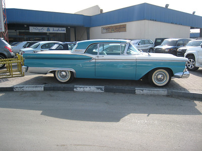 1959 Ford Fairlane Sunliner - the salesman reckoned the going price is AED240,000!