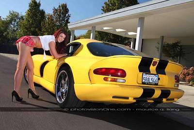 Schoolgirl.  2000 Viper GTS.  Model: Alexandrea