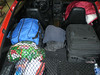 The rear cargo area as I get ready to go.